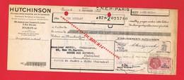 1 Lettre De Change & PARIS 8e Etablissements HUTCHINSON Compagnie Du Caoutchouc - Bills Of Exchange