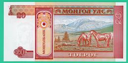 20 Tugrik - Mongolie - 1993 - N°. AA0033081 -   Neuf - - Mongolia
