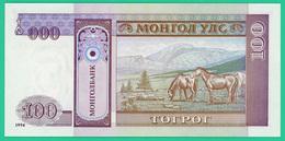 100 Tugrik - Mongolie - 1993 - N°. AD3206141 -   Neuf - - Mongolia