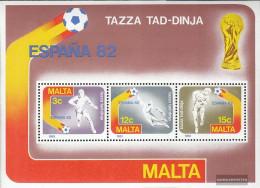 Malta Block7 (complete.issue.) Unmounted Mint / Never Hinged 1982 Football-WM - Malta