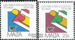 Malta 630-631 (complete.issue.) Unmounted Mint / Never Hinged 1981 Fair - Malta