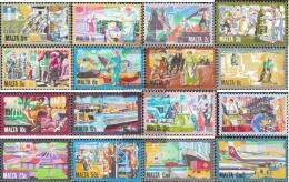 Malta 636-651 (complete.issue.) Unmounted Mint / Never Hinged 1981 Development - Malta