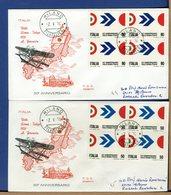 ITALIA - FDC 1970 - Timbro Della Raccomandata Sul Retro - Senza Bollo Arrivo - VOLO ROMA-TOKYO - 1946-.. République