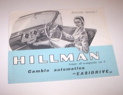 Brochure Hillman Cambio Automatico Easidrive - 1960 Ca. - Books, Magazines, Comics
