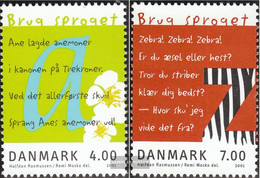 Denmark 1271-1272 (complete Issue) Unmounted Mint / Never Hinged 2001 Year The Languages - Denmark