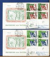 ITALIA - FDC 1970 - RACCOMANDATE Con Bollo Arrivo - PROTEZIONE NATURA - F.D.C.