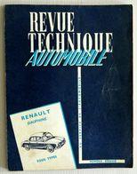 TRES RARE - REVUE TECHNIQUE AUTOMOBILE RENAULT TOUS TYPE DAUPHINE 1956 à 1962 - 131 PAGES - AVEC PLAN DE GRAISSAGE - Auto