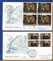 ITALIA - FDC 1970 - RACCOMANDATE Con Bollo Arrivo E Timbro Raccomandata Sul Retro  - NATALE - 1946-.. République