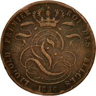 Monnaie, Belgique, Leopold I, 5 Centimes, 1856, TB, Cuivre, KM:5.1 - 1831-1865: Léopold I