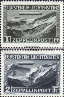 Liechtenstein 114-115 (complete.issue.) With Hinge 1931 Count Zeppelin - Liechtenstein