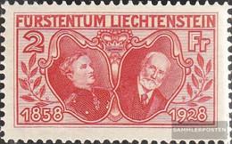 Liechtenstein 88 With Hinge 1928 Jubilee - Liechtenstein