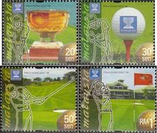 Malaysia 815-818 (completa.Problema.) MNH 1999 Golf-WM - Malesia (1964-...)