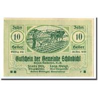 Billet, Autriche, Schonbichl, 10 Heller, Agriculteur, 1920, 1920-03-21, SPL - Austria
