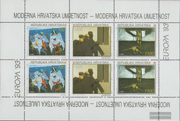 Croatia 240-242 Sheetlet (complete Issue) Unmounted Mint / Never Hinged 1993 Contemporary Art - Croatia