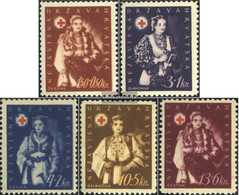 Croatia 86-90 (complete Issue) Rubber The Manufacturing With Defects Unmounted Mint / Never Hinged 1942 Red Cross - Croatia