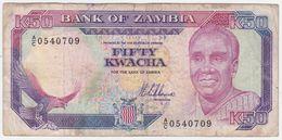 Zambia P 33 - 50 Kwacha 1989 1991 - Fine+ - Zambia