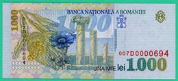 1000 Lei - Roumanie - 1998 - N° 007D0000694 -  Neuf - - Roumanie