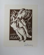 Ex-libris Illustré Belgique XXème - André ADAM - Par TILMANS - Bookplates