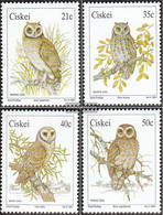 South Africa - Ciskei 183-186 (complete.issue.) Unmounted Mint / Never Hinged 1991 Owls - Ciskei