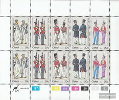 South Africa - Ciskei 47-51 Sheetlet (complete Issue) Unmounted Mint / Never Hinged 1983 Uniforms - Ciskei