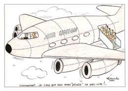 IIlustrateur Alexandre - Enghien Les Bains - Aviation - Aérostation - Avions - Autographe - Signé Par Madame - Alexandre