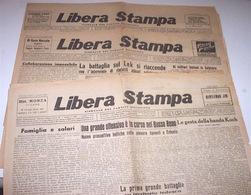 Resistenza Esilio Libera Stampa Lotto Giornale Partito Socialista Lugano - 1944 - Books, Magazines, Comics