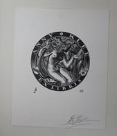 Ex-libris Illustré Belgique XXème - Anny KLEE - Femme Nue Par JAEGHER - Bookplates