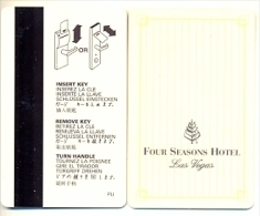 Four Seasons Hotel, Las Vegas,  Tarjeta Magnética Llave De Hotel, Usada, Fourseasons-1 - Hotel Key Cards