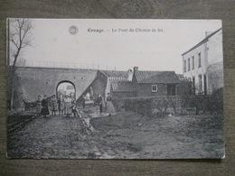 Cpa Ernage (Gembloux Namur) - Le Pont Du Chemin De Fer - Train - Très Animée! - G. Hermans Anvers - Gembloux
