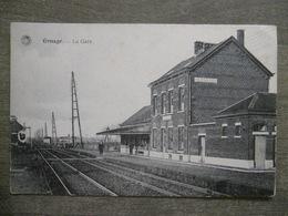 Cpa Ernage (Gembloux Namur) - La Gare - Station Statie Chemin De Fer Train - G. Hermans Anvers - Gembloux