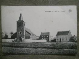 Cpa Ernage (Gembloux Namur) - Place De L'église - Sortie De Messe? - G. Hermans Anvers - Gembloux