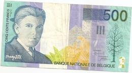 500 Fr - Type 'Magritte' - [ 2] 1831-... : Royaume De Belgique