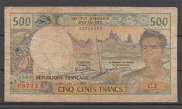 Institut D'émission D'Outre-mer 500 F. - NOUMEA - Nouvelle Calédonie (état Très Moyen) - Nouvelle-Calédonie 1873-1985