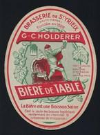 Etiquette Biere De Table  G Scholderer  Brasserie De St Yrieix Haute Vienne - Beer