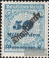 Deutsches Reich D88HT, Anchor In Basket Lid Con Fold 1923 Timbro Ufficiale - Deutschland