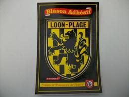 Blason Adhésif   LOON - PLAGE  (59) Nord - Other Municipalities
