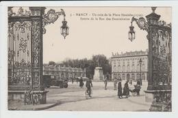 NANCY - MEURTHE ET MOSELLE - UN COIN DE LA PLACE STANISLAS - ENTREE DE LA RUE DES DOMINICAINS - Nancy