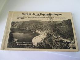 Cpa  Carnet 12 Cartes Reliées  Gorges De La Dordogne  Correze Cantal  14x9 - Frankrijk