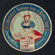 Ancienne Etiquette Fromage  Camembert  Joseph Le Petit Succès Breteville S Dives - Cheese