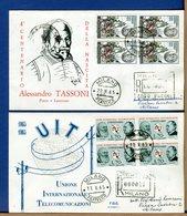 ITALIA - FDC 1965 - TUTTE RACCOMANDATE Con Timbro Di Arrivo - TASSONI - UIT - F.D.C.