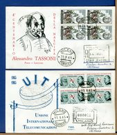 ITALIA - FDC 1965 - TUTTE RACCOMANDATE Con Timbro Di Arrivo - TASSONI - UIT - 1946-.. République