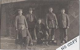 CARTE-PHOTO MITRAILLEURS ALLEMANDS MG 08/15 À ETON-WALD (MEUSE) - 1917   (cp19) - Guerre 1914-18