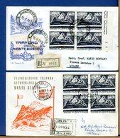 ITALIA - FDC 1965 - TUTTE RACCOMANDATE - TRAFORO MONTE BIANCO - COURMAYEUR Viaggiata Con Timbro Arrivo - 6. 1946-.. Repubblica