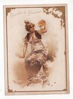 Chromo  CHOCOLAT DU PLANTEUR   Femme Et Lampe    Grand Format   15 X 11 Cm - Chocolat