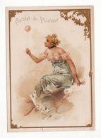 Chromo  CHOCOLAT DU PLANTEUR   Femme Et Ballon    Grand Format   15 X 11 Cm - Chocolat