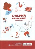 Programme - Animations Alpha Angoulême - Mars à Juin 2018 - Ill. Tristoon - Programs