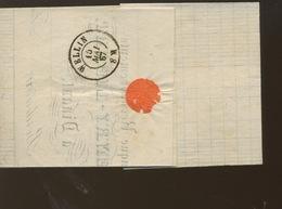 17 Sur Lettre  Très Jolie - 1865-1866 Linksprofil