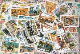 Motives 100 Different Stamps  Cars And Motor Vehicles In Complete Expenditure - Cars