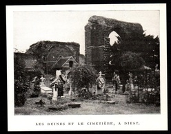 1911  --  BELGIQUE   DIEST : LES RUINES ET LE CIMETIERE   3P834 - Old Paper