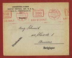 Infla Ab 1. Nov.1922 Ausland  Drucksache Bar Bezahlt Freistempel - 1918-1945 1ra República